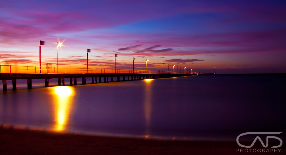 Sunset at Frankston Pier, Victoria, Australia, Mornington Peninsula, Landscape, seascape.