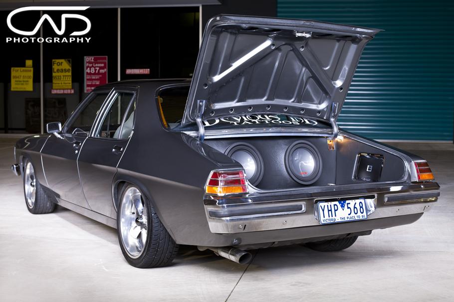 Holden HQ Restored, gun metal paint, show wheels streeters Alpine ...