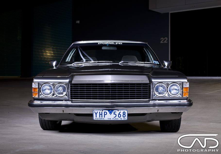Holden HQ Restored, gun metal paint, show wheels streeters Front ...