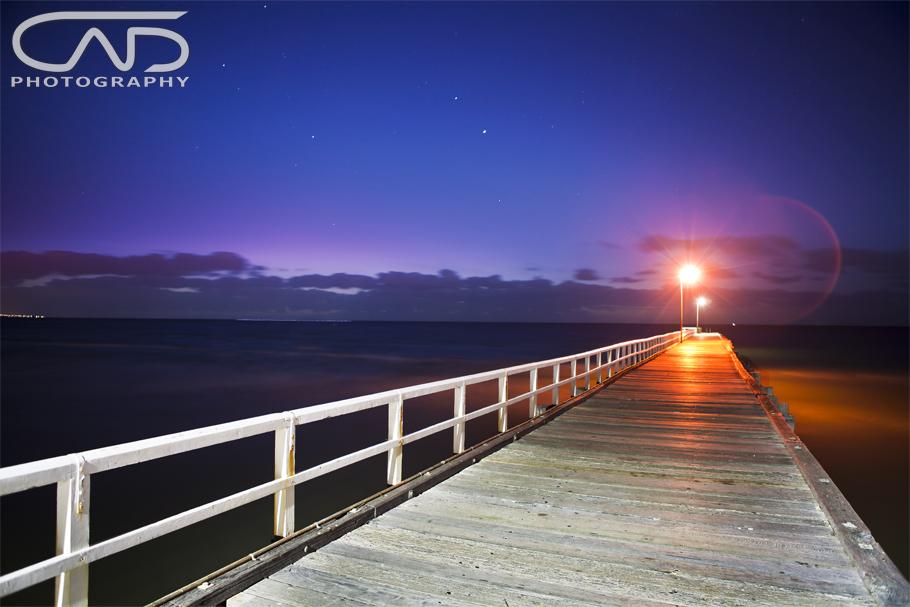 Seaford Pier Sunset Victoria Mornington Peninsula, Australia, Sunset, night, stars.