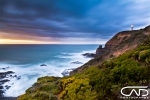 Cape Schanck Sunset on Mornington Peninsula Victoria Australia on a stormy sunset.