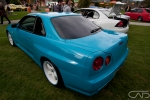 Teal Blue R34 Skyline on White Rims 2