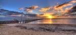 Frankston Pier Sunset clouds sun rays web 1#Landscape