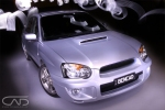Subaru Silver WRX night photograph #AutoGallery
