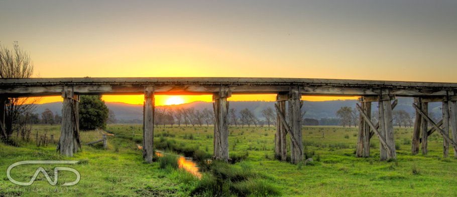 Yarra Glen Bridge sunset