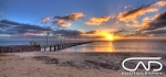 Frankston Pier Sunset Beach Mornington Peninsula Victoria Australia