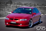 Holden Commodore VX S ii Shanghai Red 18 inch Wheels