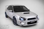 Subaru WRX 2003 Peanut Silver 18 Drag Rims blue walls Sti Spoiler Studiointerior