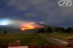 DSE fire burning at the basin Mt Dandenong Victoria Australia 2013 Landscape photograph.