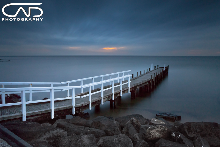 Olivers Hill Stormy and cloudy sunset in Frankston / Mt Eliza Victoria Australia on the mornington peninsula.